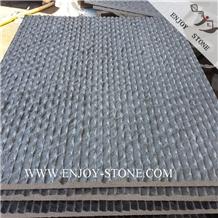 Half Planed Grey Basalto Stone Wall Covering Tiles