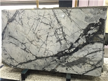 Winter River Snow Marble,China White Grey Marble
