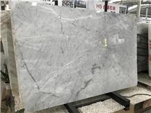 Alaska White Marble Slabs for Villa Project