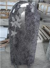 Bahama Blue Granite Germany Tombstone Flower