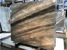 Beautiful 45° Grey Marble Slabs for Hotel Project