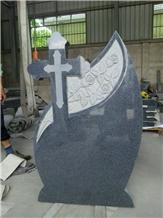 Black Grantite Gravestone Style G603 Tobmstone