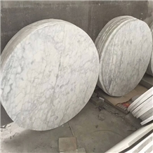 Carrara Grey Marble Metal Coffee Table Tops