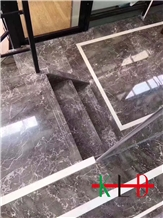 China Grey Marble Stairs,Cut to Size,Stone Steps