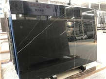 China Nero Marquina Black Marble Slabs for Project