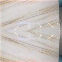 China Sands Milan White Marble Walling Slabs
