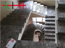 Chinese Grey Marble Tiles for Stairway,Staircase