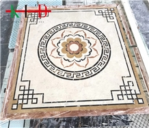 Composited Marble Waterjet Medallion for Flooring