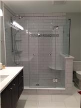 Crystallized White Stone Polished Corner Shelf 9