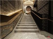 Dora Ash Cloud Marble Stairs Steps