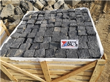 G684 Natural,Absolute Black Cubestone,Black Basalt