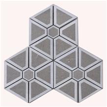 Geometric Hexagon Mosaic Office Shopping Mall Art