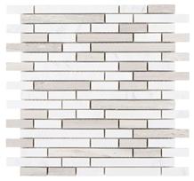 Haisa Grey Stack 12x12 Shower Walls Panel Mosaic Tiles