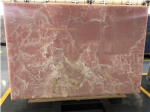 High Glossy Pink Onyx Slabs for Decoration Tiles
