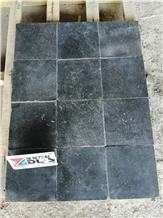 Honed+Tumbled Blue Limestone,Dark&Bluish Grey Tile