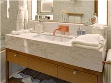 Imperial Volakas Semi White Marble Bath Vanity Top