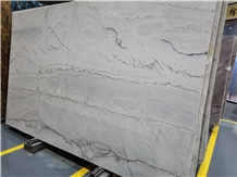 Infinity White Quartzite Slabs for Kitchen Countertop