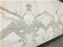 Italy Calacatta Doro Marble Kitchen Tiles Slabs