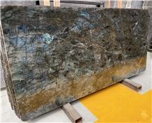 Labradorite Lemurian Blue Flower Granite Slab Tile