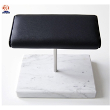 Luxurious White Marble Base Double Watch Stands