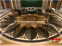 Marble Water Jet Medallion for Interior Decoration