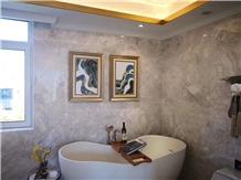 Polished Abbott Grey Marble Flooring Tiles