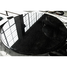 Polished Black Luxury Round Marble Coffee Table