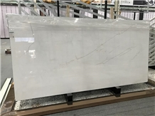 Red Line White Jade Marble Slabs for Decoration