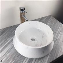 Volakas White Hotel Bathroom Wash Basins Bowls