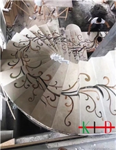 Water Jet Floor Stone Stairs,Steps,Staircase