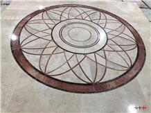 Waterjet Round Medallion Decorative Floor Entrance