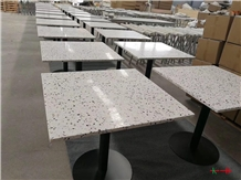 White Terrazzo Countertop Square Table