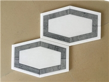 Bardiglio Imperiale Hexagon Waterjet Marble Mosaic Tile