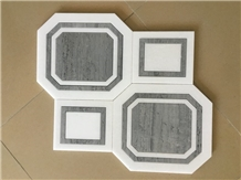Italy ,Bardiglio Imperiale Waterjet Tile Wall