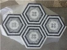 Italy Calacatta Gold Nero Marquina Marble Mosaic Tiles