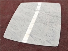 Carrara White Marble Reception Counter Work Top