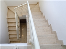 Cream Ivory Light Beige Travertine Staircase Riser