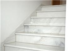 Italy Bianco Lasa Marble White Stone Stair Tiles