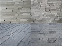 Wooden Marble Serpeggiante Ledge Stone Veneer