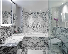 Arabescato Corchia Marble Slabs Wall Cladding