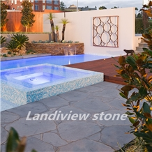 Blue Stone Random Pattern Bluestone Cobble Pavers