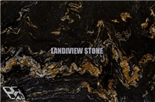 Fusion Black Granite Slabs Tiles