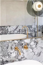 Invisible Grey Marble Melitta Ice Marble Tile Slab