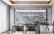 Lobby Wall Cladding Labradorite Bianca Granite