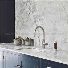 Super White Quartzite Bianco Eclipsia Kitchen Tops