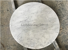 White Bianco Carrara Cd Marble Table Top