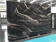 Zebra Black Marble Slabs
