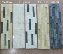 Mixed Color Ledge Stone Panel Wall Cladding