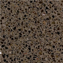 Cement Terrazzo Tiles Brown Color for Wall