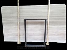 China Grigio Legno Natural White Vein Marble Slabs